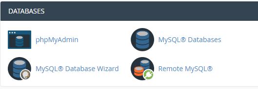 Kā izveidot jaunu datubāzi cPanel 2