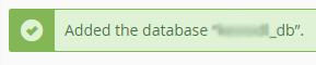 Kā izveidot jaunu datubāzi cPanel 4