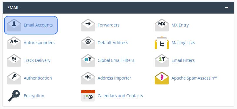 Izveidot jaunu e-pastu cPanel hostings