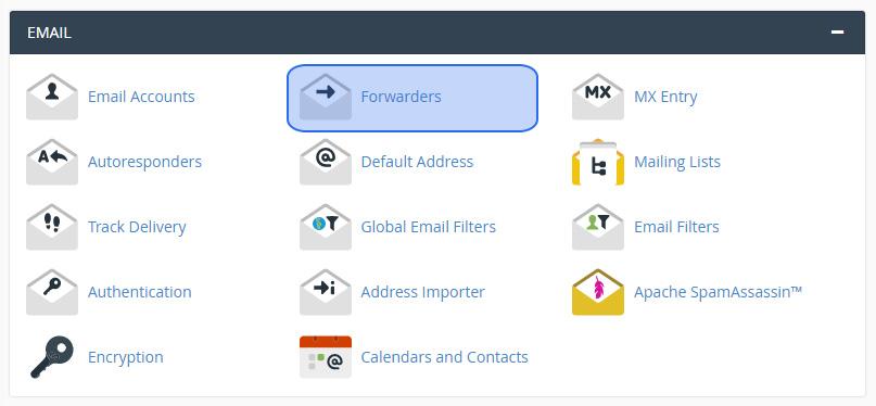Izveidot e-pasta pāradresāciju cPanel hostings