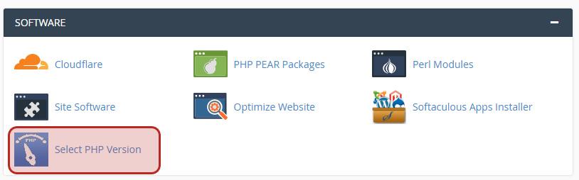 PHP versijas maiņa