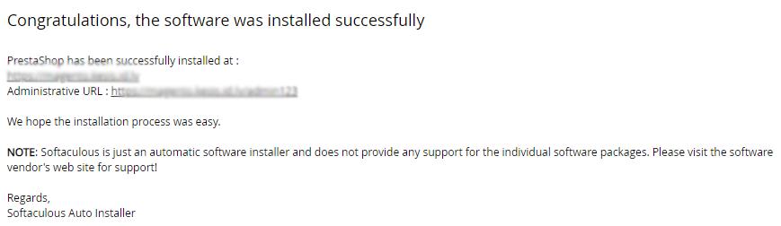 PrestaShop instalācijas pabeigšana