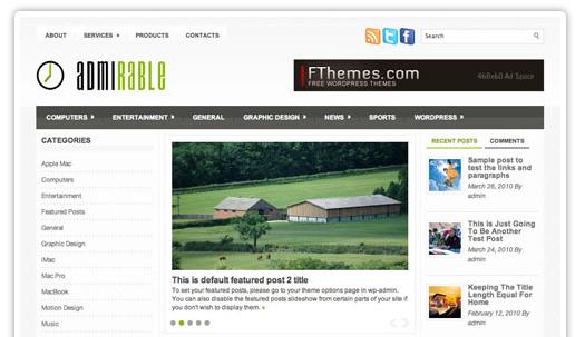 Admirable WordPress bezmaksas dizains