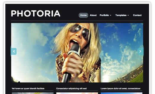 Photoria WordPress bezmaksas dizains