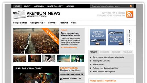 Premium News WordPress bezmaksas dizains