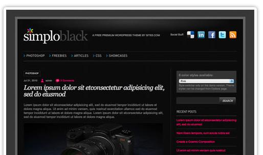 Simplo Theme WordPress bezmaksas dizains