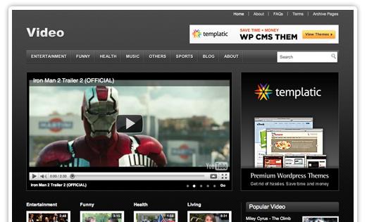 Video Theme WordPress bezmaksas dizains